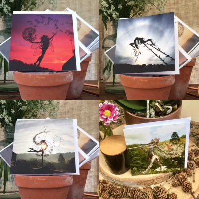 Four Pack2 of Greetings Cards