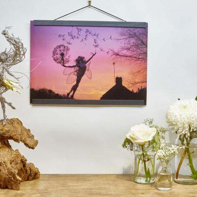 A3 Print Luna wooden frame