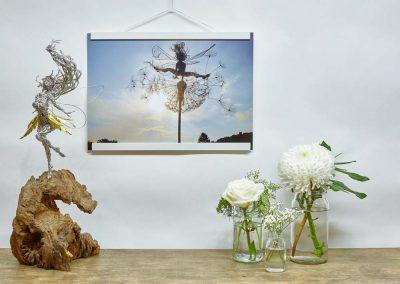 A3 Print Skylark wooden frame